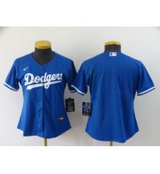 Women's Nike Los Angeles Dodgers Blank Royal Alternate Stitched Baseball Jersey
