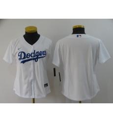 Women's Nike Los Angeles Dodgers Blank White Royal Alternate Stitched Baseball Jersey