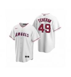 Women Julio Teheran #49 Los Angeles Angels White Replica Home Jersey