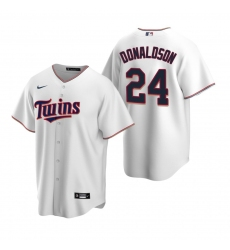 Men's Nike Minnesota Twins #24 Josh Donaldson White Home Stitched Baseball Jersey