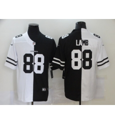 Men's Dallas Cowboys #88 CeeDee Lamb Black White Limited Split Fashion Football Jersey