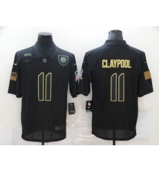 Men's Pittsburgh Steelers #11 Chase Claypool Black Nike 2020 Salute To Service Limited Jersey