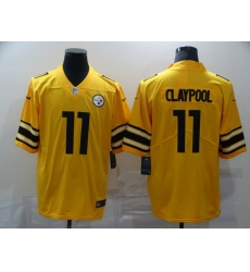 Men's Pittsburgh Steelers #11 Chase Claypool Limited Gold Inverted Legend Football Jersey