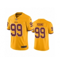 Washington Redskins #99 Chase Young Color Rush Limited Gold Jersey