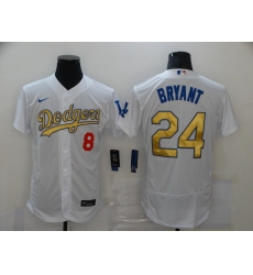 Men's Los Angeles Dodgers Kobe Bryant Olive Gold Jersey