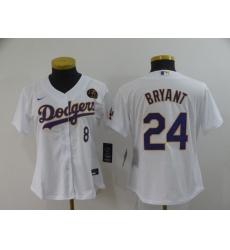 Women's Nike Los Angeles Dodgers Kobe Bryant Blue Jerseys