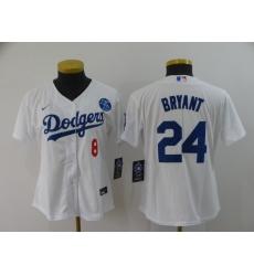 Women's Nike Los Angeles Dodgers Kobe Bryant White Jersey