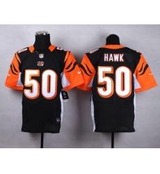 Nike Bengals #50 A.J. Hawk Black Team Color Men's Stitched NFL Elite Jersey