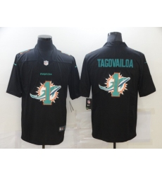 Men's Miami Dolphins #1 Tua Tagovailoa Black Nike Black Shadow Edition Limited Jersey