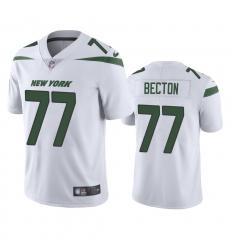 Men's New York Jets #77 Mekhi Becton White 2020 NFL Draft Vapor Limited Jersey