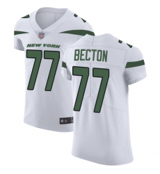 Men's New York Jets #77 Mekhi Becton White Stitched New Elite Jersey