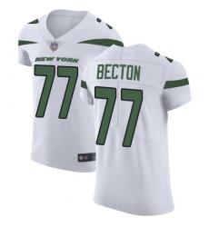 Men's New York Jets #77 Mekhi Becton White Stitched New Elite Jersey