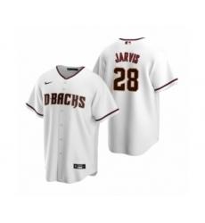 Men's Arizona Diamondbacks #28 Bryce Jarvis White 2020 MLB Draft Replica Home Jersey
