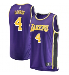 Men's Los Angeles Lakers #4 Alex Caruso Fanatics Branded Purple 2020-21 Fast Break Replica Jersey
