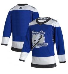 Men's Tampa Bay Lightning adidas Blank Blue 2020-21 Reverse Retro Authentic Jersey