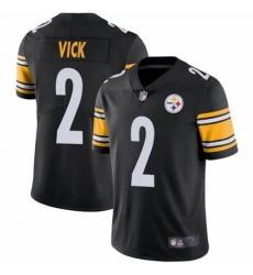 Men's Pittsburgh Steelers #2 Michael Vick Black Nike Draft Vapor Limited Jersey