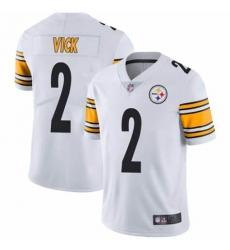 Men's Pittsburgh Steelers #2 Michael Vick White Nike Draft Vapor Limited Jersey