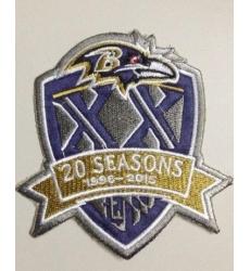 Stitched Baltimore Ravens 1996-2015 20th Seasons Jersey Patch