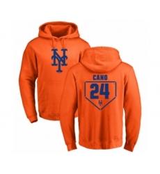 Baseball New York Mets #24 Robinson Cano Orange RBI Pullover Hoodie
