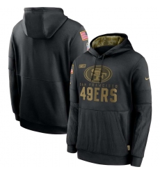Men's NFL San Francisco 49ers 2020 Salute To Service Black Pullover Hoodie