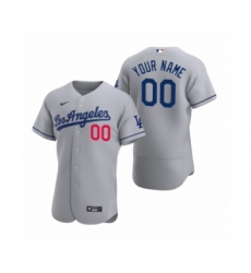 Men's Los Angeles Dodgers Custom Nike Gray Authentic 2020 Road Jersey