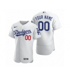 Men's Los Angeles Dodgers Custom Nike White 2020 Authentic Jersey