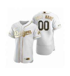 Men's Los Angeles Dodgers Custom Nike White Authentic Golden Edition Jersey