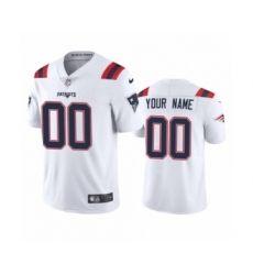New England Patriots Custom White 2020 Vapor Limited Jersey