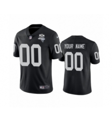 Oakland Raiders Custom Black 2020 Inaugural Season Vapor Limited Jersey