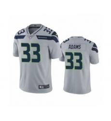 Men's Jamal Adams Seattle Seahawks #33 Gray Vapor Limited Jersey