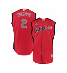 Men's Houston Astros #2 Alex Bregman Authentic Red American League 2019 Baseball All-Star Jersey