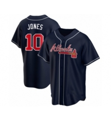 Men's Chipper Jones #10 Atlanta Braves Navy Replica Alternate Jersey