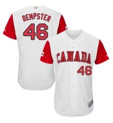 Men's Canada Baseball Majestic #46 Ryan Dempster White 2017 World Baseball Classic Authentic Team Jersey