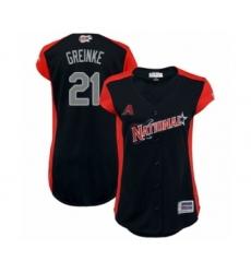 Women's Arizona Diamondbacks #21 Zack Greinke Authentic Navy Blue National League 2019 Baseball All-Star Jersey