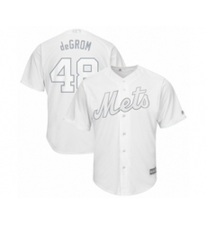 Men's New York Mets #48 Jacob deGrom  deGrom  Authentic White 2019 Players Weekend Baseball Jersey