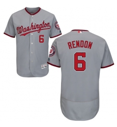 Men's Majestic Washington Nationals #6 Anthony Rendon Grey Road Flex Base Authentic Collection MLB Jersey