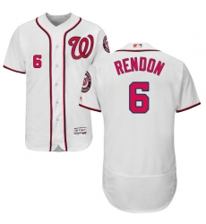 Men's Majestic Washington Nationals #6 Anthony Rendon White Home Flex Base Authentic Collection MLB Jersey