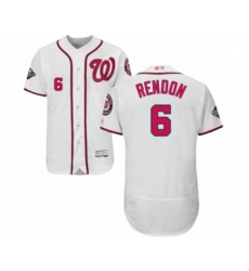 Men's Washington Nationals #6 Anthony Rendon White Home Flex Base Authentic Collection 2019 World Series Bound Baseball Jersey