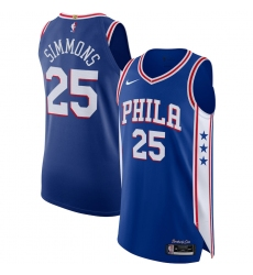 Men's Philadelphia 76ers #25 Ben Simmons Nike Royal 2020-21 Authentic Jersey