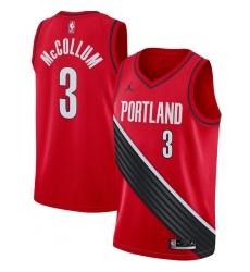 Men's Portland Trail Blazers #3 C.J. McCollum Jordan Brand Red 2020-21 Swingman Jersey