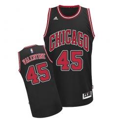 Men's Adidas Chicago Bulls #45 Denzel Valentine Swingman Black Alternate NBA Jersey