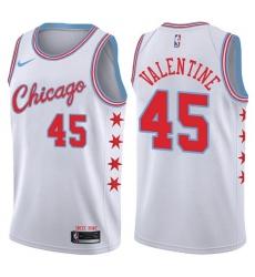 Women's Nike Chicago Bulls #45 Denzel Valentine Swingman White NBA Jersey - City Edition