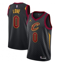 Men's Cleveland Cavaliers #0 Kevin Love Jordan Brand Black 2020-21 Swingman Jersey