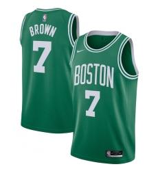 Men's Boston Celtics #7 Jaylen Brown Nike Kelly Green 2020-21 Swingman Jersey