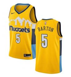 Men's Nike Denver Nuggets #5 Will Barton Swingman Gold Alternate NBA Jersey Statement Edition
