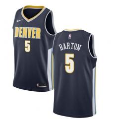 Men's Nike Denver Nuggets #5 Will Barton Swingman Navy Blue Road NBA Jersey - Icon Edition