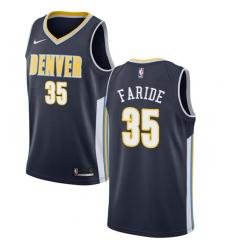 Men's Nike Denver Nuggets #35 Kenneth Faried Swingman Navy Blue Road NBA Jersey - Icon Edition