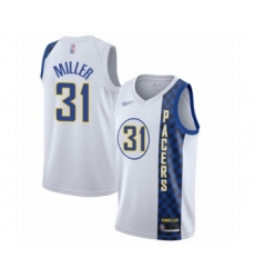 Men's Indiana Pacers #31 Reggie Miller Swingman White Basketball Jersey - 2019 20 City Edition