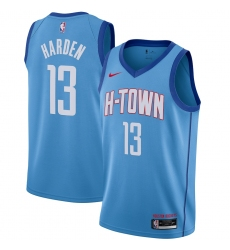 Men's Houston Rockets #13 James Harden Nike Blue 2020-21 Swingman Player Jersey