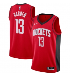 Men's Houston Rockets #13 James Harden Nike Red 2020-21 Swingman Jersey